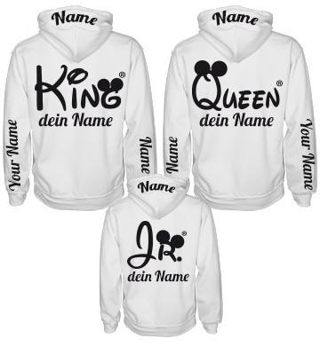 Coole Pärchen Pullover selbst gestalten King & Queen Mr